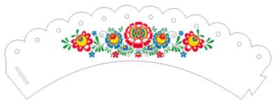 košíček na muffiny folklórny ľudový vzor