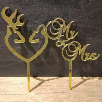 Zápich Mr Mrs s jeleňom a srnkou