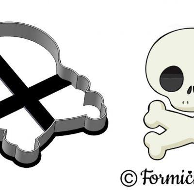 Formička - Lebka s kosťami