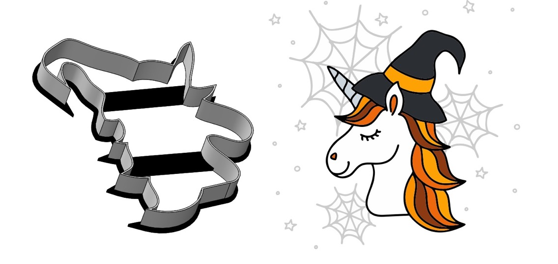 Formička – Halloweensky jednorožec