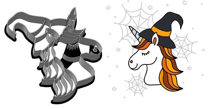 Formička – Halloweensky jednorožec 2