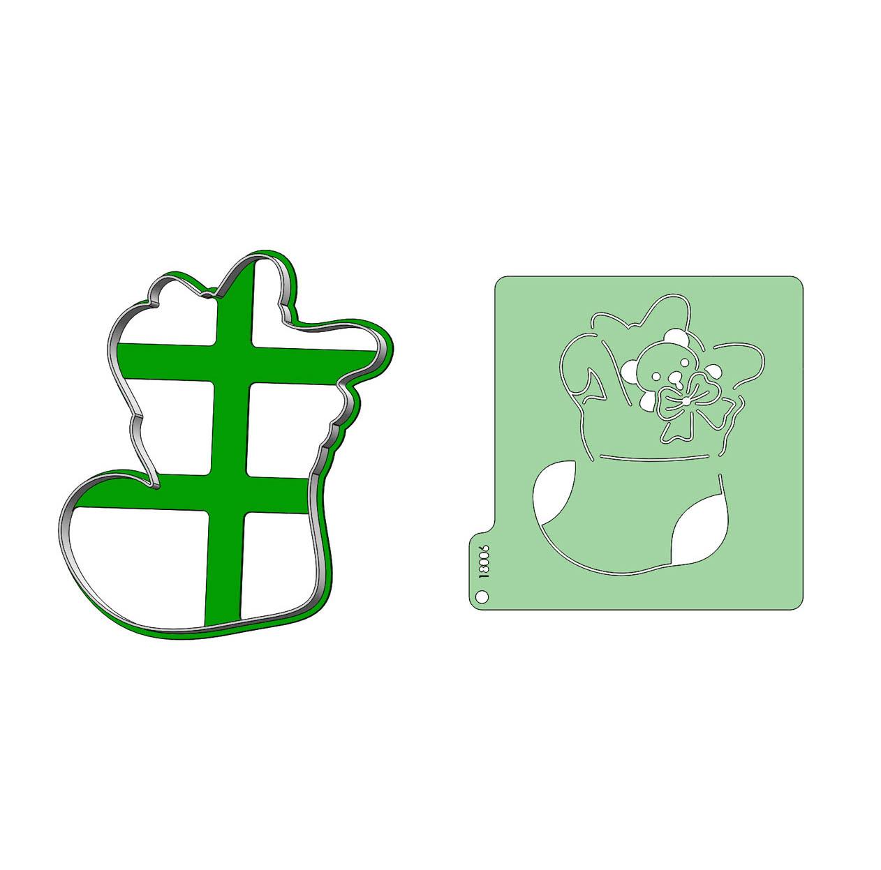 Formička + Stencil - Čižma