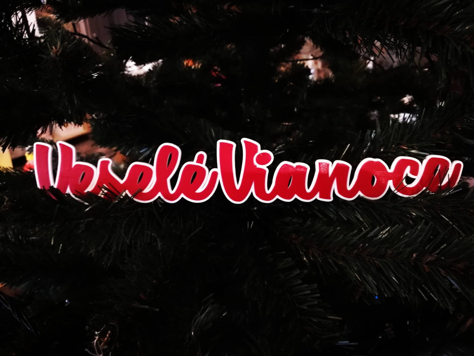Veselé vianoce napis 1