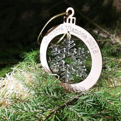 vianočná ozdoba s menom