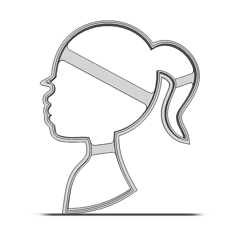Dievča- Hlava 19-0100