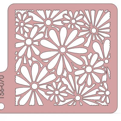 Kvety - stencil