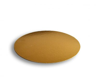 Podložka pod tortu Ø 28cm zlatá 1050g-m2