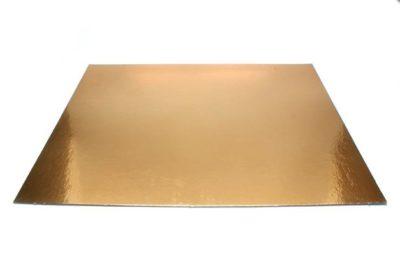 Podnos zlatý hrubý štvorec 34 x 34 cm
