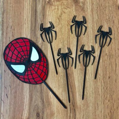 Zápich Set - Spiderman+pavúky