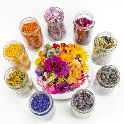 Jedlé sušené kvety